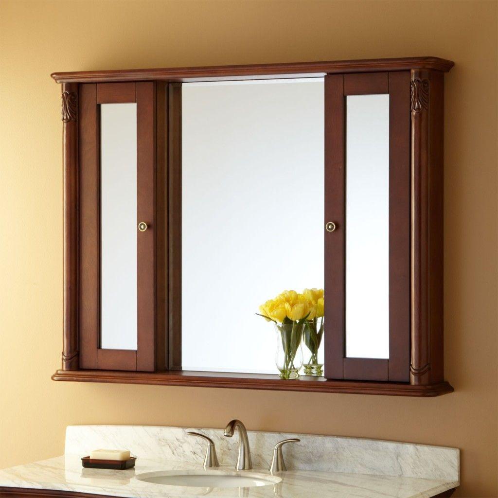 Wooden Bathroom Medicine Cabinets With Mirror | Bathroom | Pinterest ...