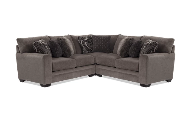Best Luxe Gray 3 Piece Sectional Bobs Com Sectional 400 x 300