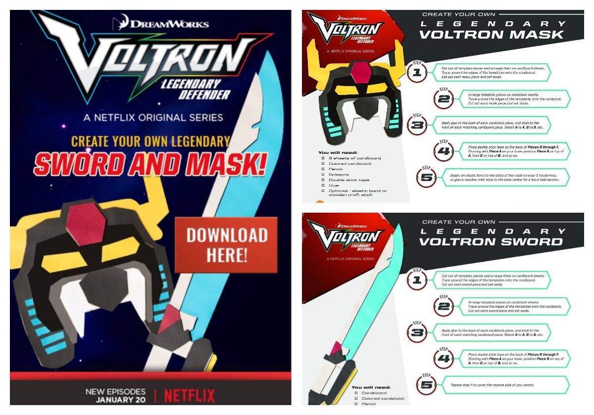 Voltron Legendary Defender In Coloring Pages: Make A Voltron Legendary Defender Sword And Mask! #Voltron