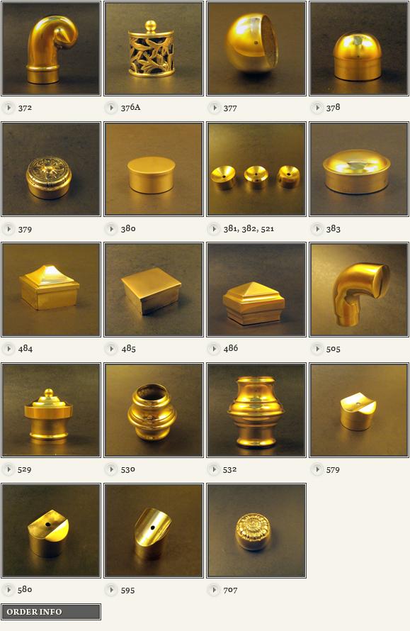 Brass End Caps Model 380 Brass Curtain Rods Diy Curtain Rods
