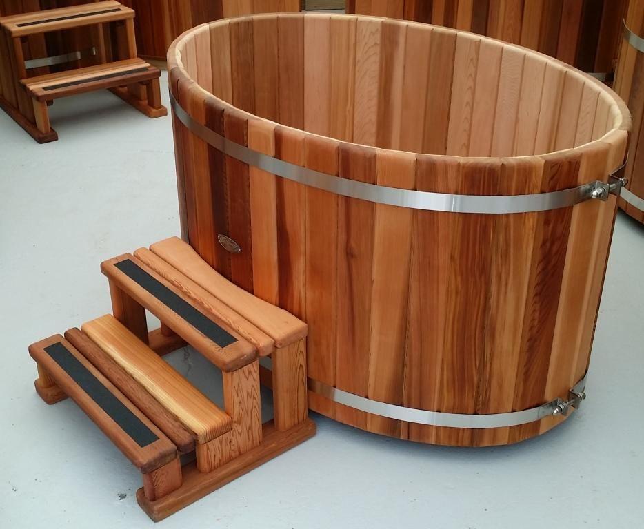 Outdoor Cedar Bathtub: Small Oval | courtyards | Pinterest | Bathtubs