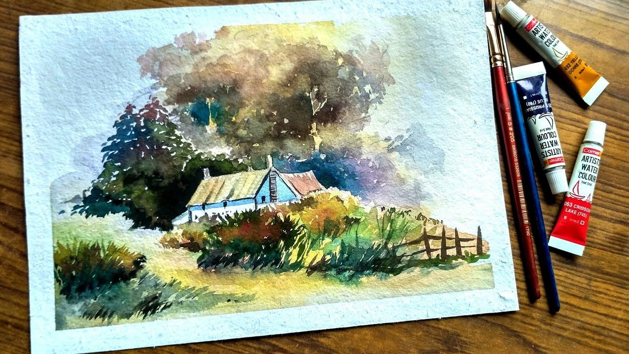 Watercolor Landscape Painting Paint With David Landscape