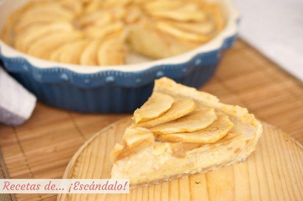 Tarta De Manzana Con Crema Pastelera Y Masa Quebrada Recetas De Escándalo Receta Tarta De Manzana Crema Pastelera Pastelera