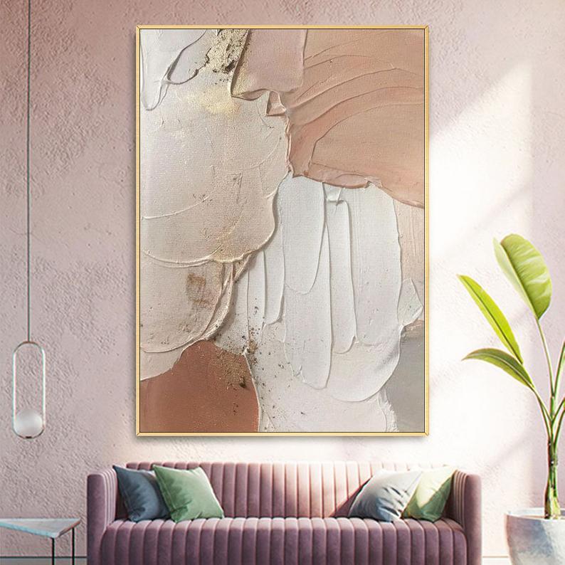 Large Nordic HandPainted Oil PaintingOriginal Abstract Brown | Etsy