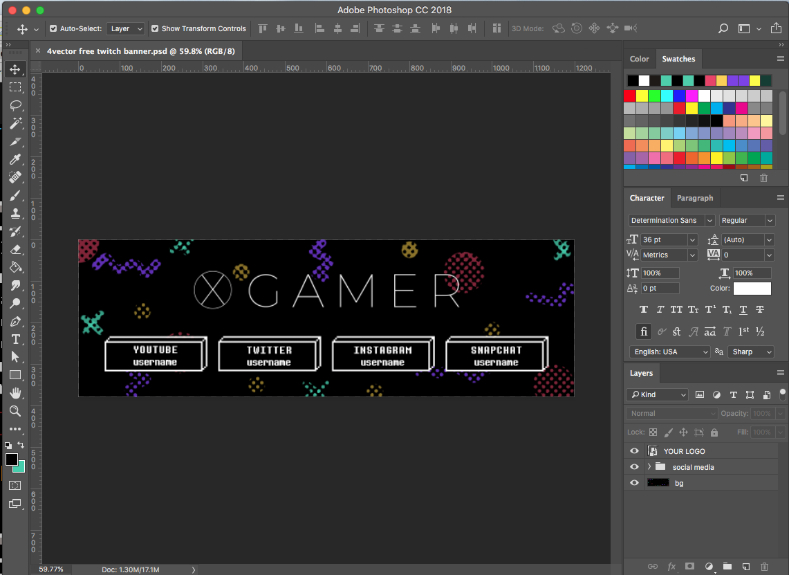 Free Twitch Banner Template in PSD (and HowTo) Banner