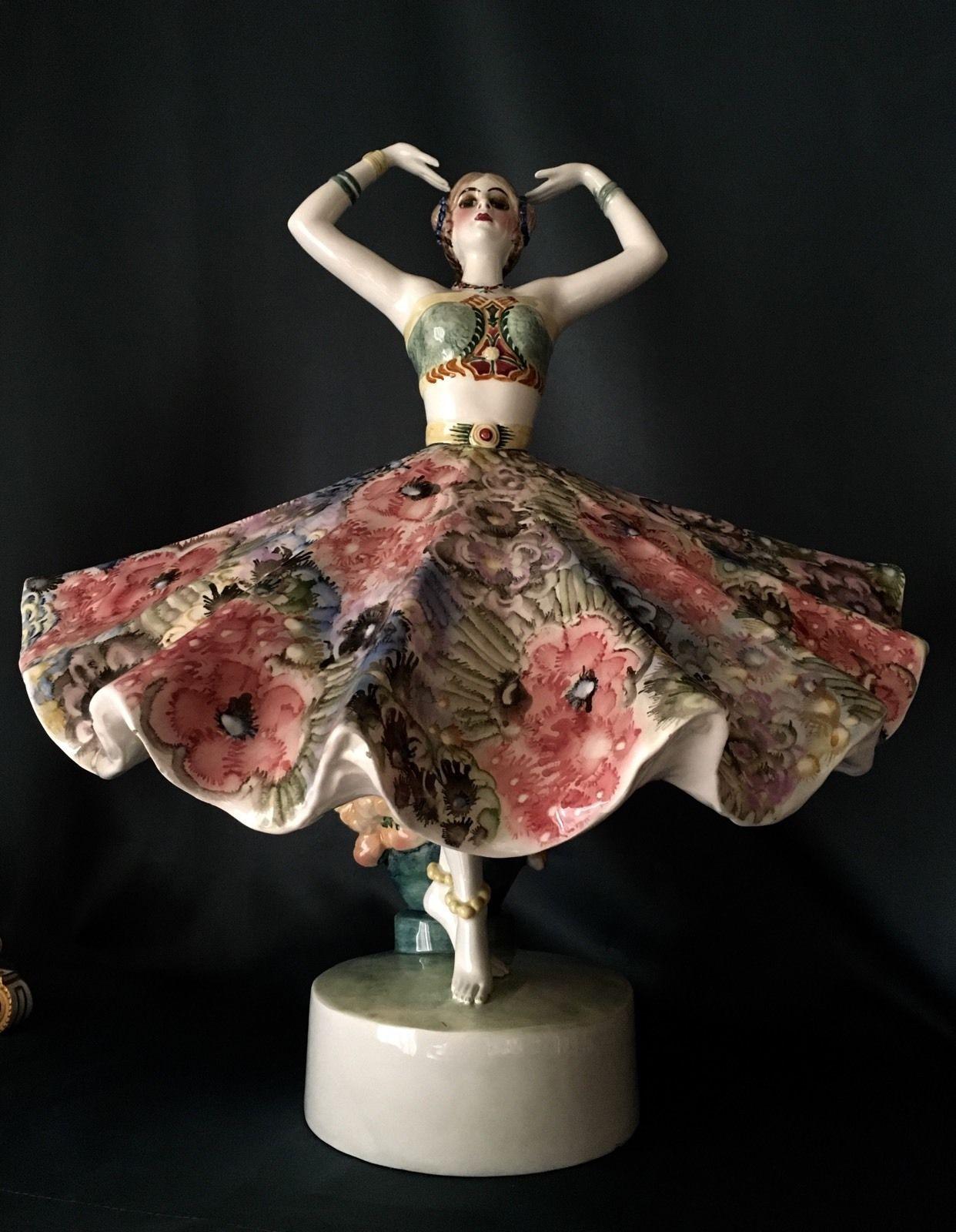 Contemporary Art Woman Lady Girl Figurine Sculpture Fashion Model Home Decor