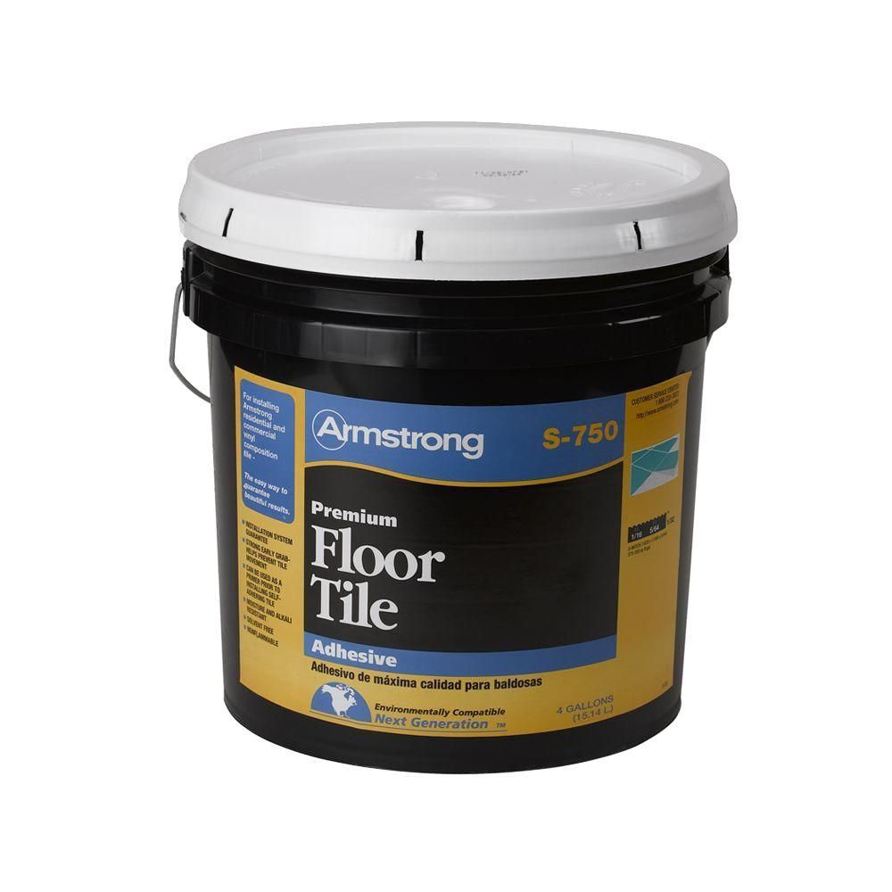 Armstrong s750 4 gal resilient tile adhesive00750418