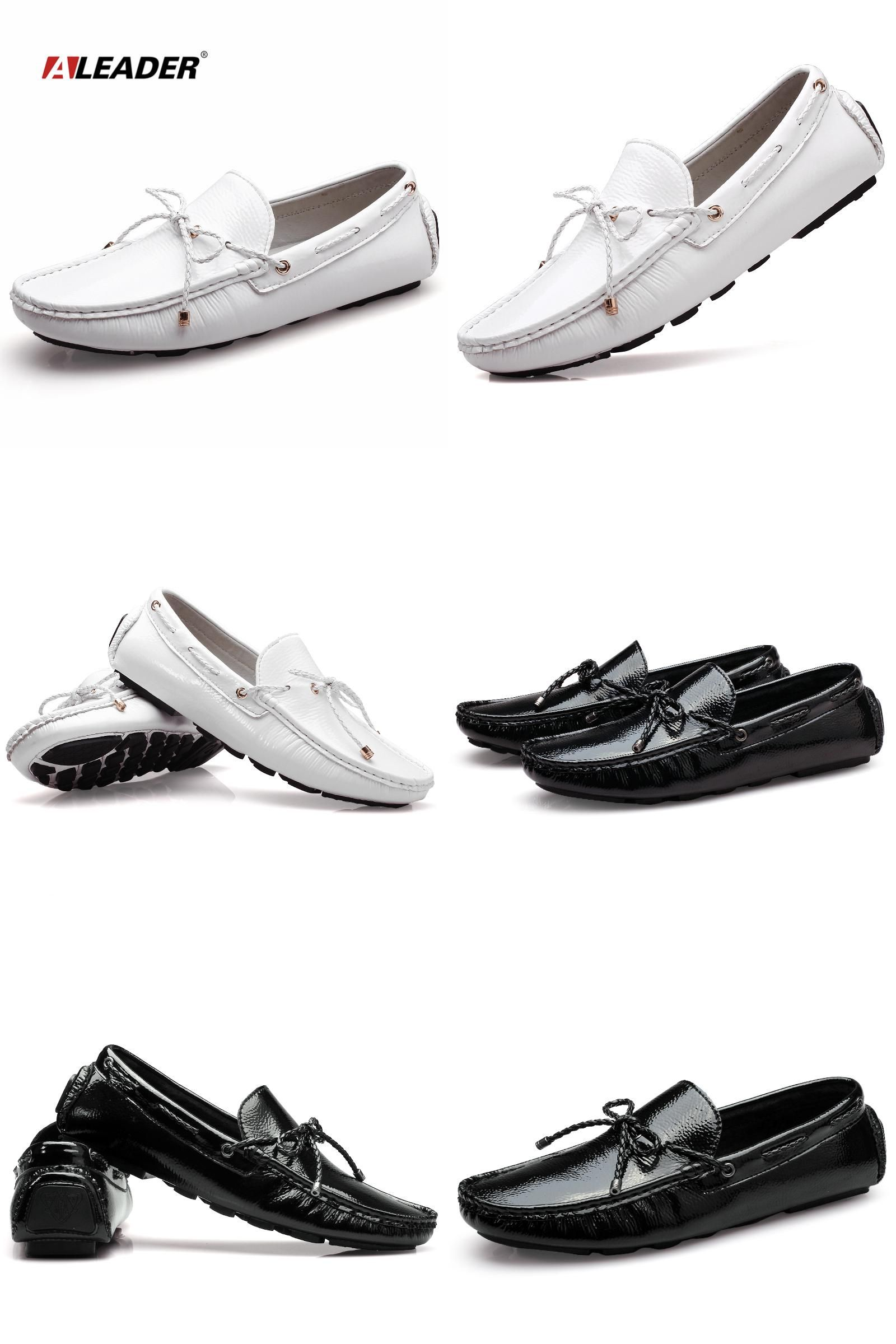 cbab7819bc6  Visit to Buy  Mens Casual Loafers Shoes New 2017 Autumn Men s Patent  Leather Driving