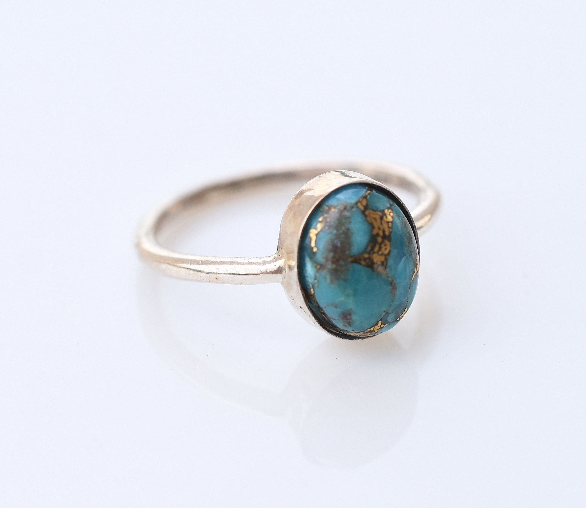 handmade ring gemstone ring statement ring size 7.75 Natural Turquoise ring gift for her 925 silver ring sterling silver ring