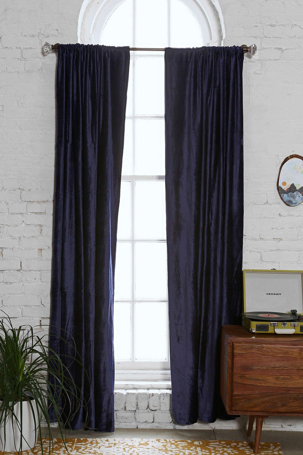Magical Thinking Velvet Curtain Velvet Curtains Urban Outfitters Curtains Curtains
