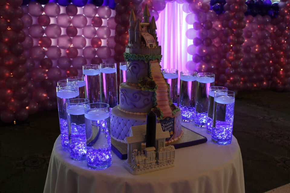 Fantasy themed bat mitzvah candle lighting display with led lights fantasy themed bat mitzvah candle lighting display with led lights aloadofball Image collections