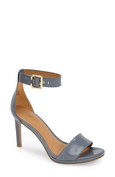 b4e16cf2cf46 Nine West  Meant to be Minimal  Leather Ankle Strap Sandal (Women)  available at  Nordstrom