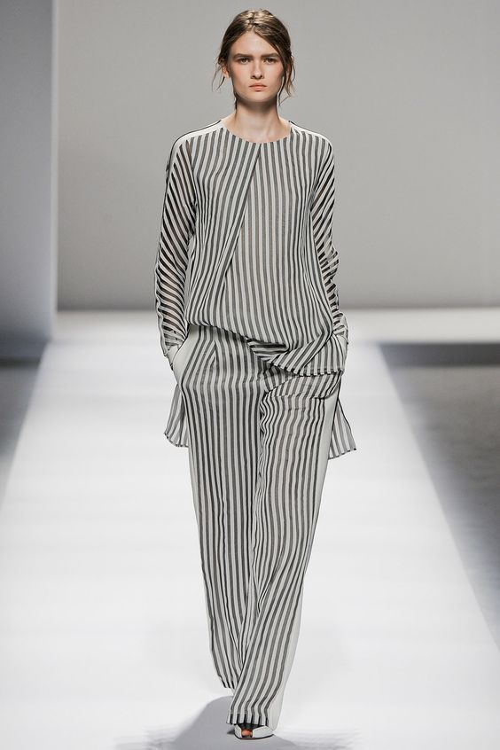 Stripes on the runway.