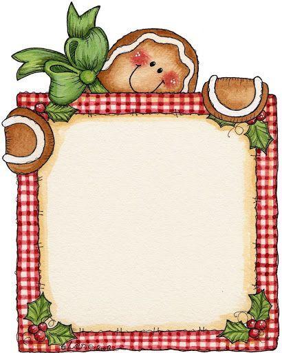 christmas gingerbread frame clip art clip art christmas 1 rh pinterest com