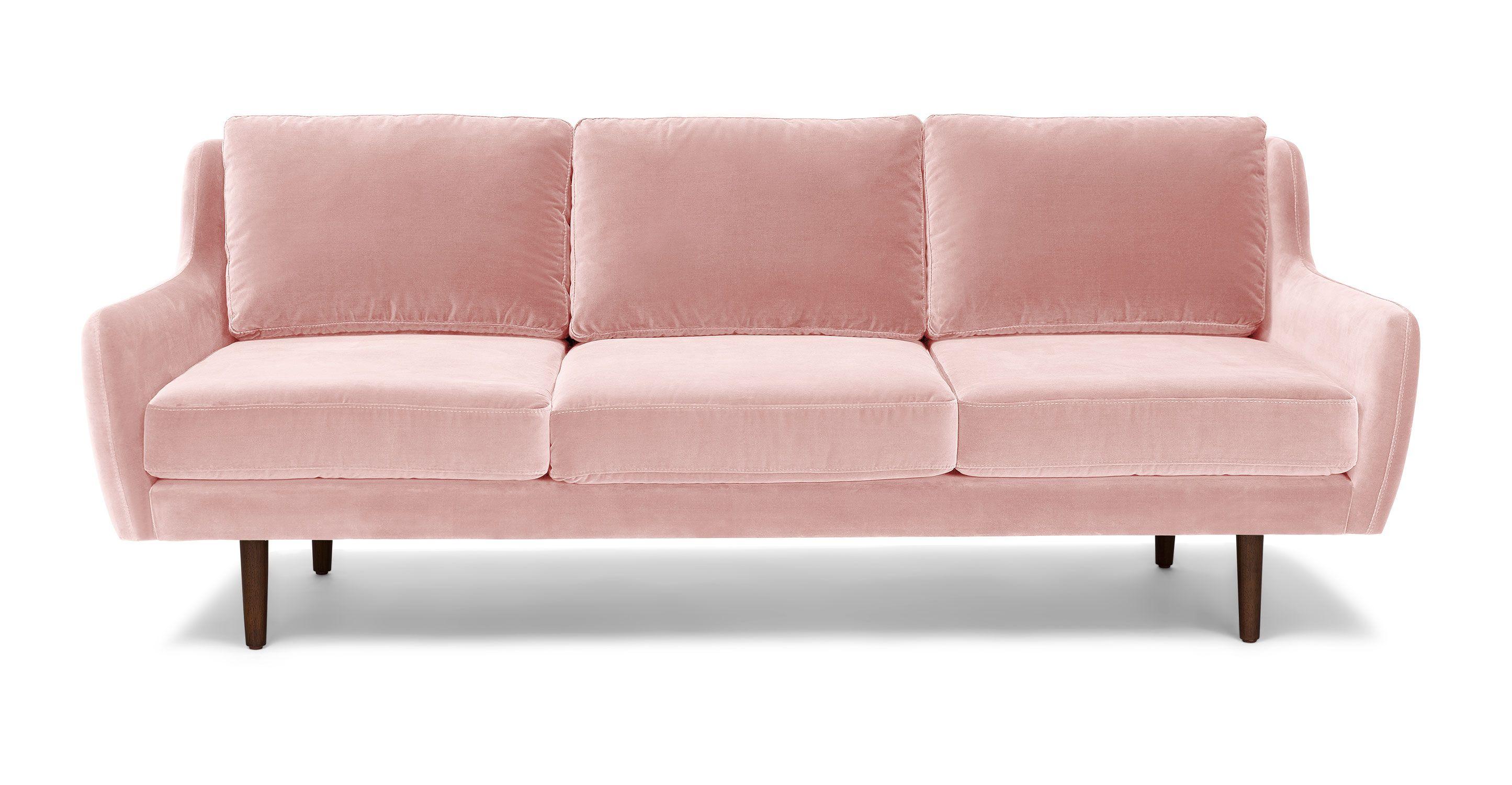 Matrix Blush Pink Sofa Sofas Article Modern Mid Century And