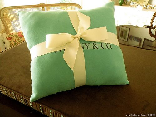 My Tiffany & Co pillow that I made for my goddaughter was pinned. Just saw it linking back to my blog. fun!
