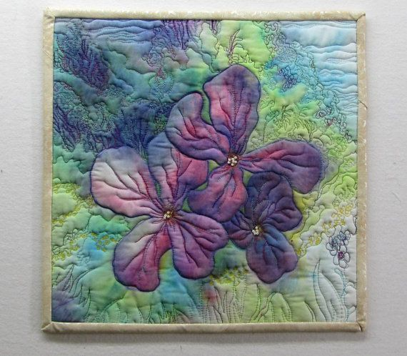 Honesty Art Quilt Wall Hanging 12 x 12 by lafaut2 on Etsy, $65.00