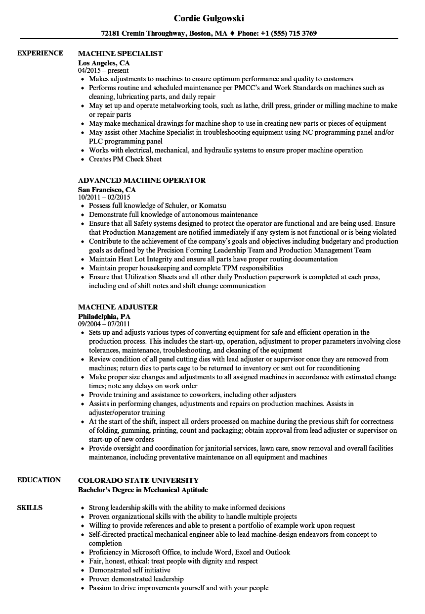 25++ Claims adjuster resume example Format