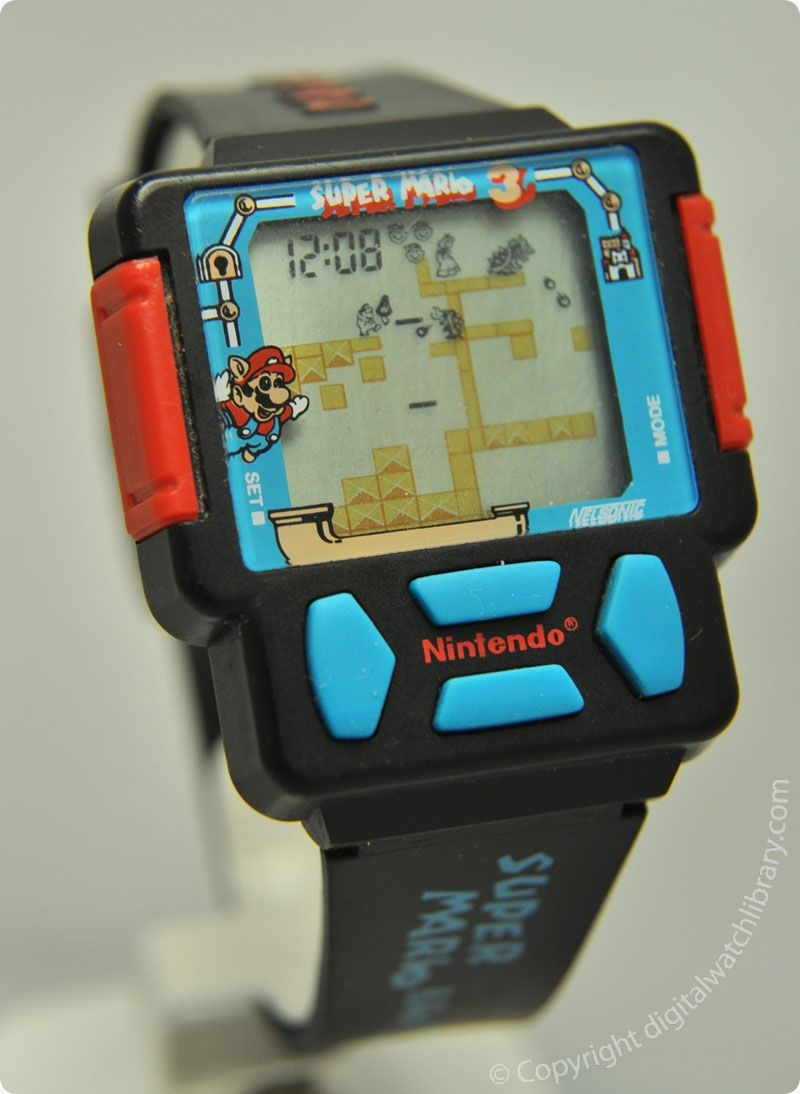 NELSONIC - Super Mario 3 - Game - Vintage Digital Watch #vintagewatches