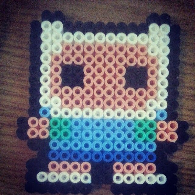 Finn Adventure Time hama beads by lolweasles