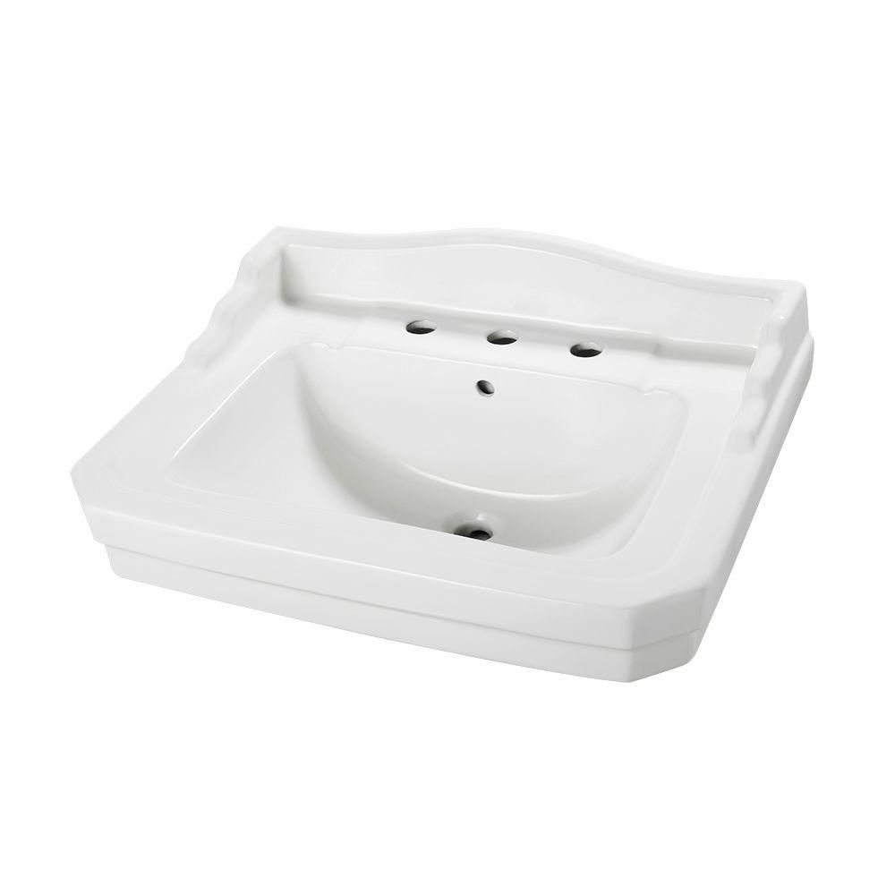 Foremost Series 1930 20 1 4 In Pedestal Sink Basin In White Pedestal Sink Sink Bathroom Sink Tops