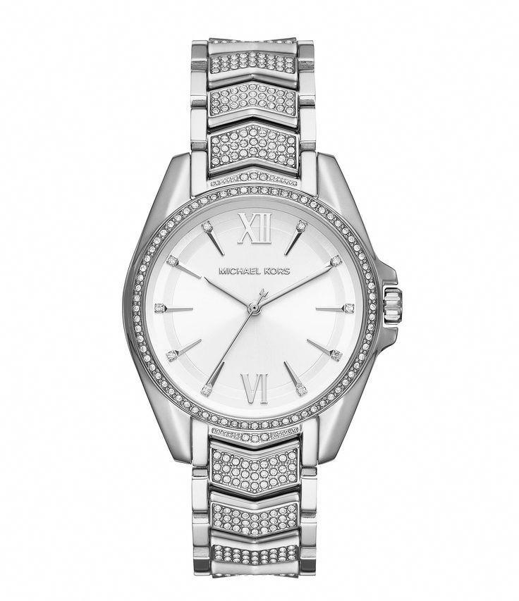 Michael Kors Whitney Pave CZ Bracelet Watch - Silver N/A ...