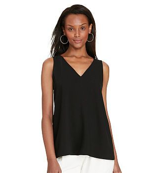 Color-Blocked Crepe Top - Shirts & Blouses  Tops & Polos - RalphLauren.com
