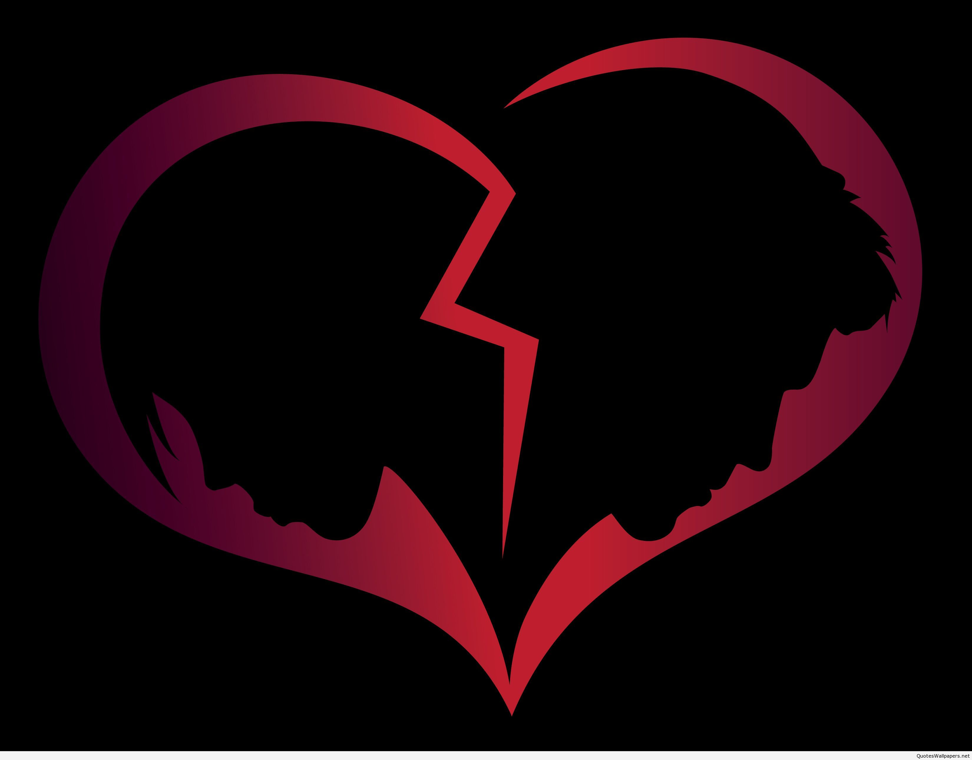 A broken heart with a the silhouette of a woman in the left half a broken heart with a the silhouette of a woman in the left half buycottarizona