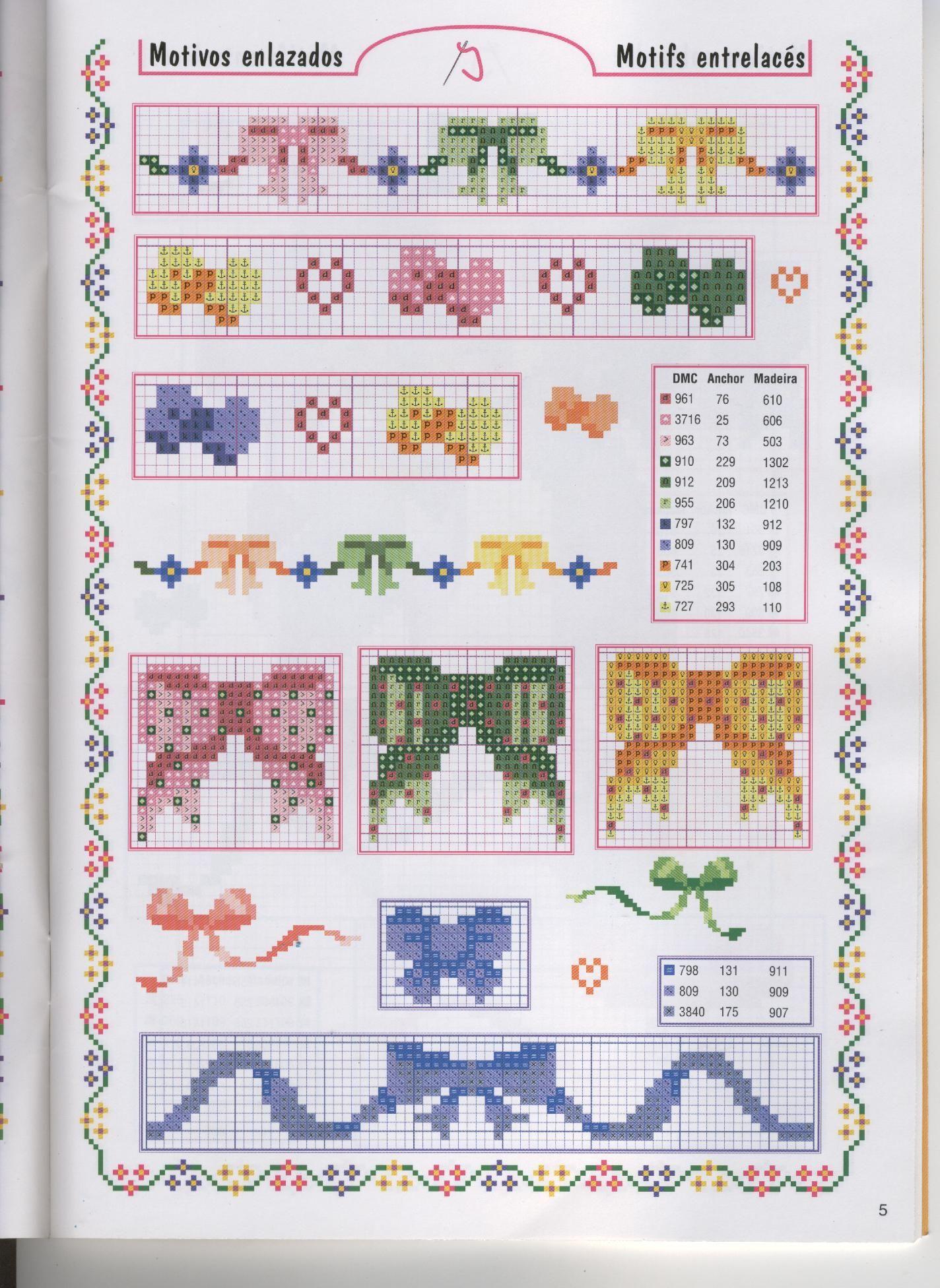 Bow pattern / chart for cross stitch, crochet, knitting, knotting ...