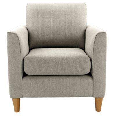 Debenhams Silver Grey Finn Armchair With Light Wood Feet At