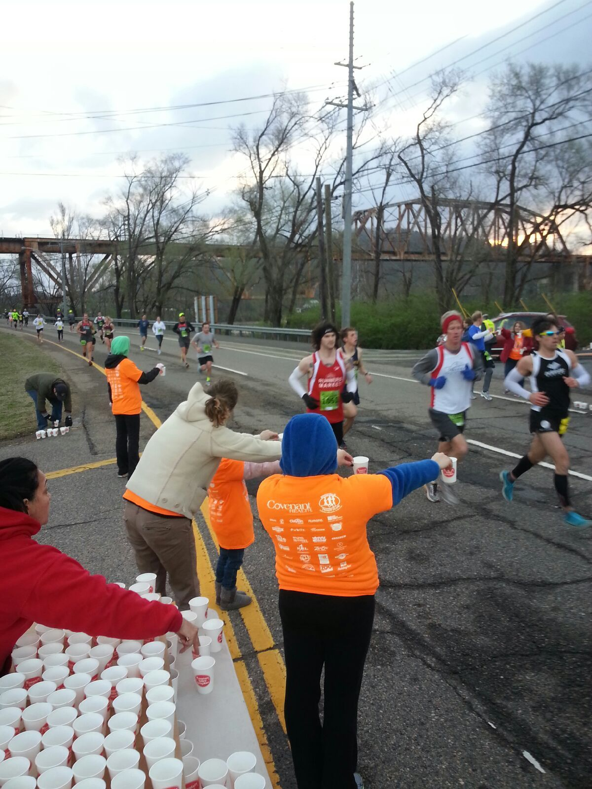 Helping Out At The First Water Station For The Covenant Health Knoxville Marathon 2014 Water Station The Covenant Health