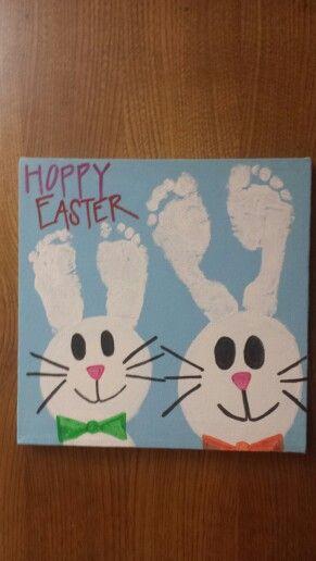 easter bunny foot prints crafts for kids pinterest easter
