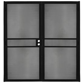 Gatehouse Pasadena Black Steel Surface Mount Double Security Door (Com