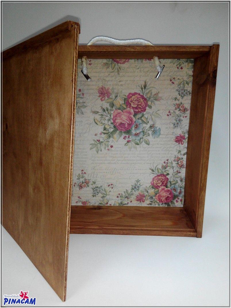 Caja reciclada por isabel manualidades pinacam madera - Caja madera manualidades ...