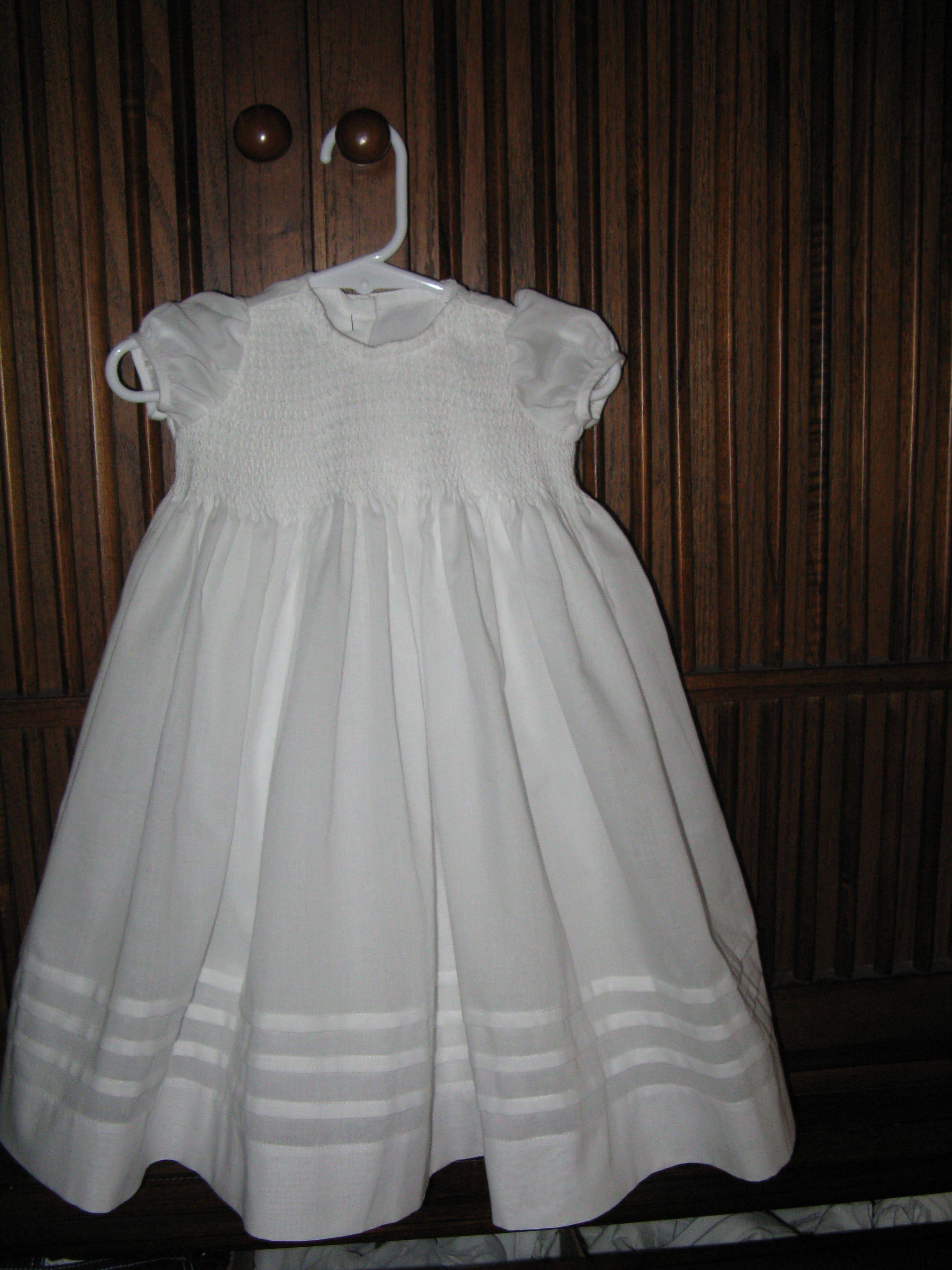 The blessing dress I made for Samantha Rae Maynes