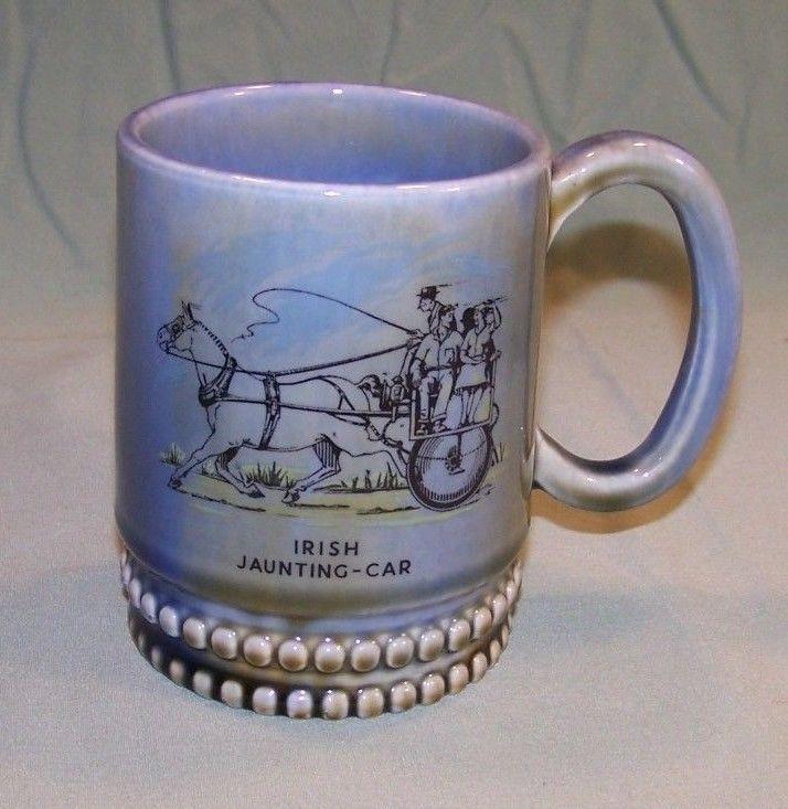 Vintage Miniature Wade mug   Irish jaunting Car 2 high