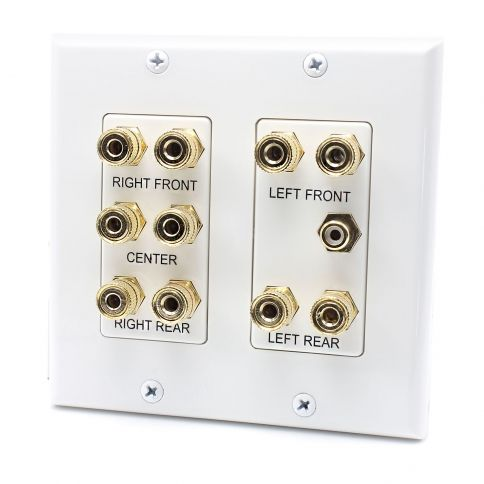 Banana Plug Wall Plate Captivating 10 Port Banana Binding Post  Rca Jack Connector Home Theater System Design Ideas
