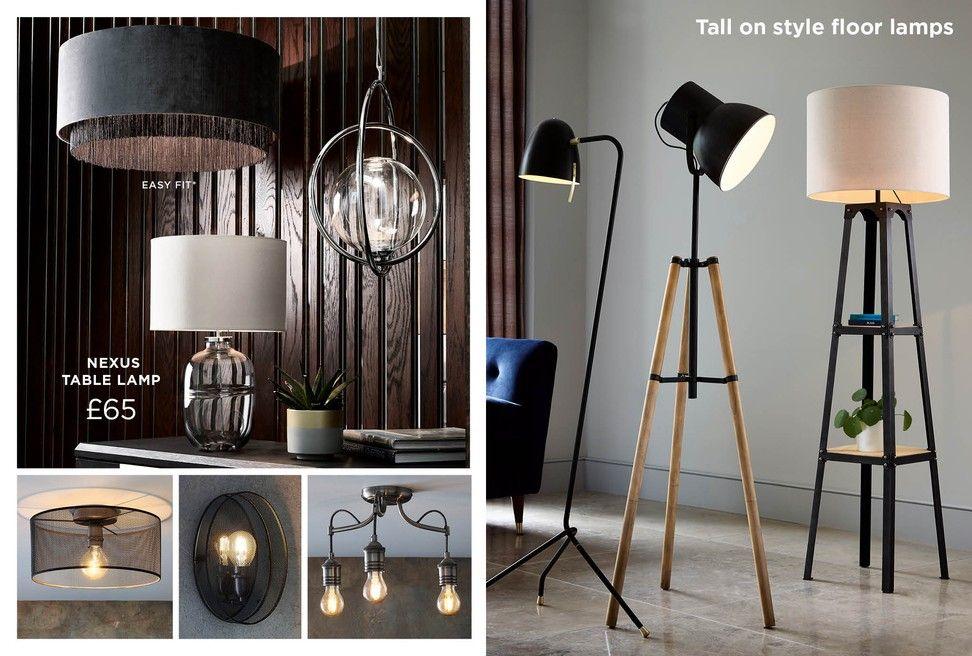 Next Kai Rattan Tripod Floor Lamp