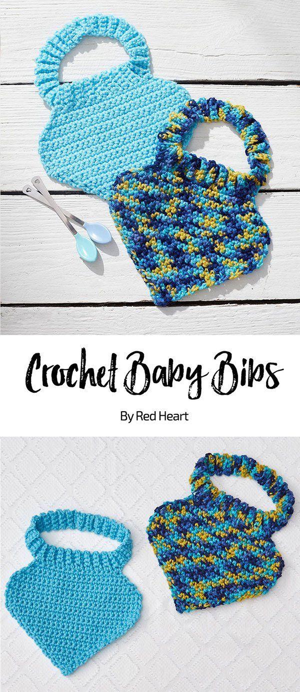 Crochet Baby Bibs free crochet pattern in Baby Hugs Medium yarn ...