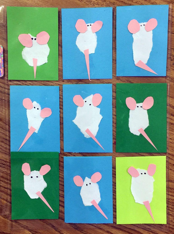 fuzzy mice art trading cards animal art maus basteln bastelideen kindergarten m use. Black Bedroom Furniture Sets. Home Design Ideas