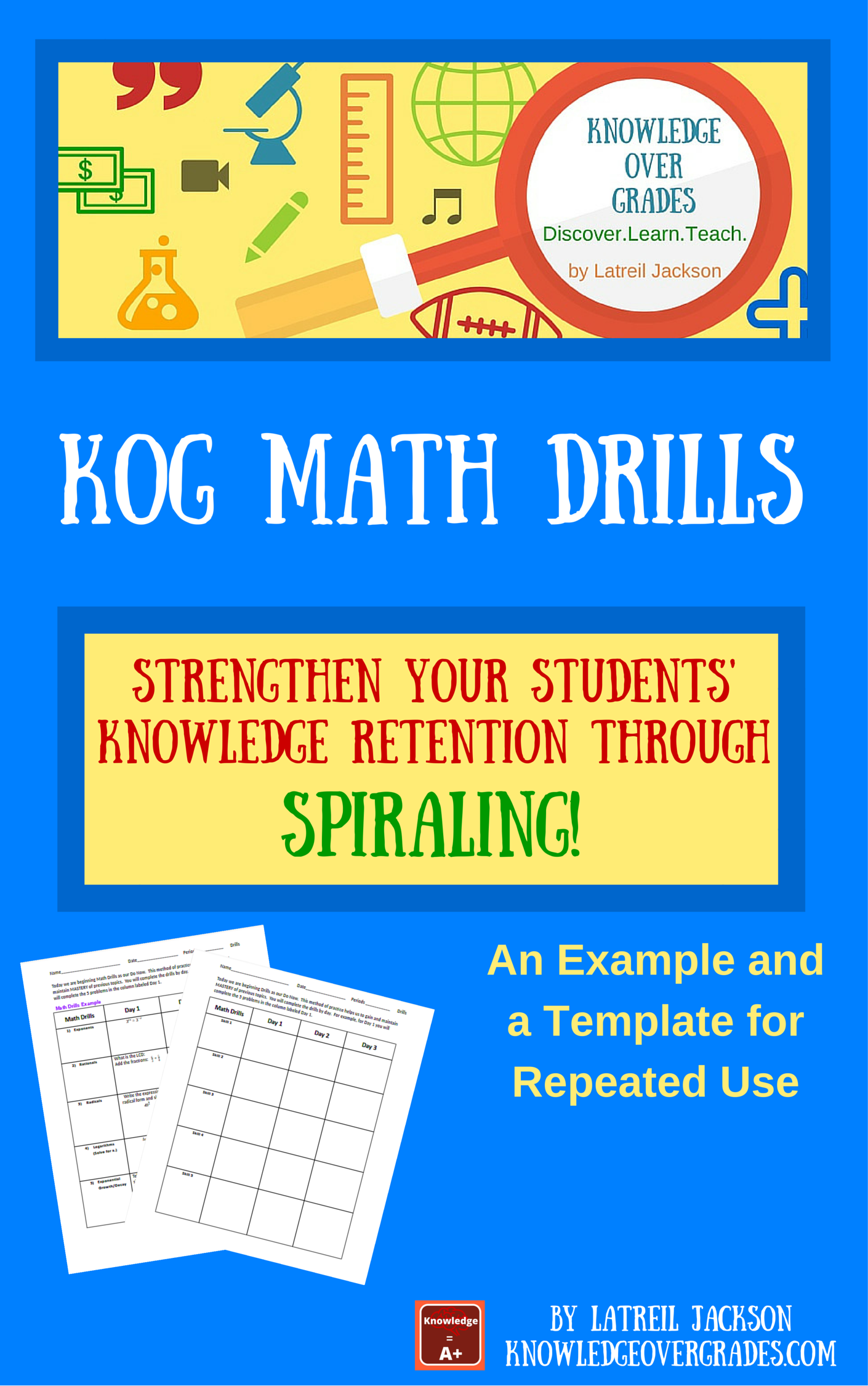 FREE - KOG Math Drills. Help your students keep their math skills ...