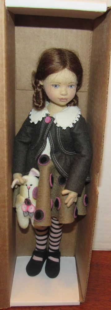 Gorgeous Rare Maggie Iacono 2016 Ufdc Convention Doll In Box 12 Felt Dolls Dolls Doll Clothes