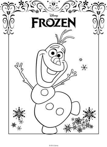 Olaf De Frozen Dibujo Para Colorear Frozen Druckvorlagen Malvorlagen Eiskonigin Weihnachtsmalvorlagen