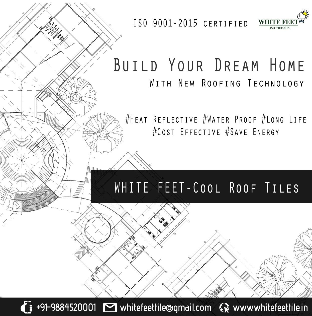 New Roofing Technology White Feet Tile Industry Cool Roof Constructions Building Drawing Buildingplans Roofing Tiles Cool Roof Roof Tiles Roofing