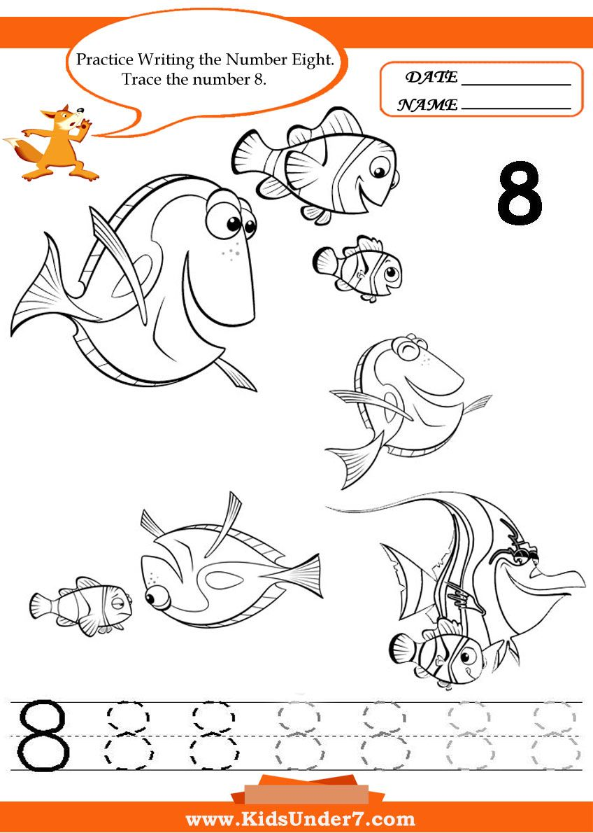 worksheet Number 8 Worksheets kids under 7 writing numbers worksheets ideias para number 8 printable for you to print and use as your childrens learning worksheets