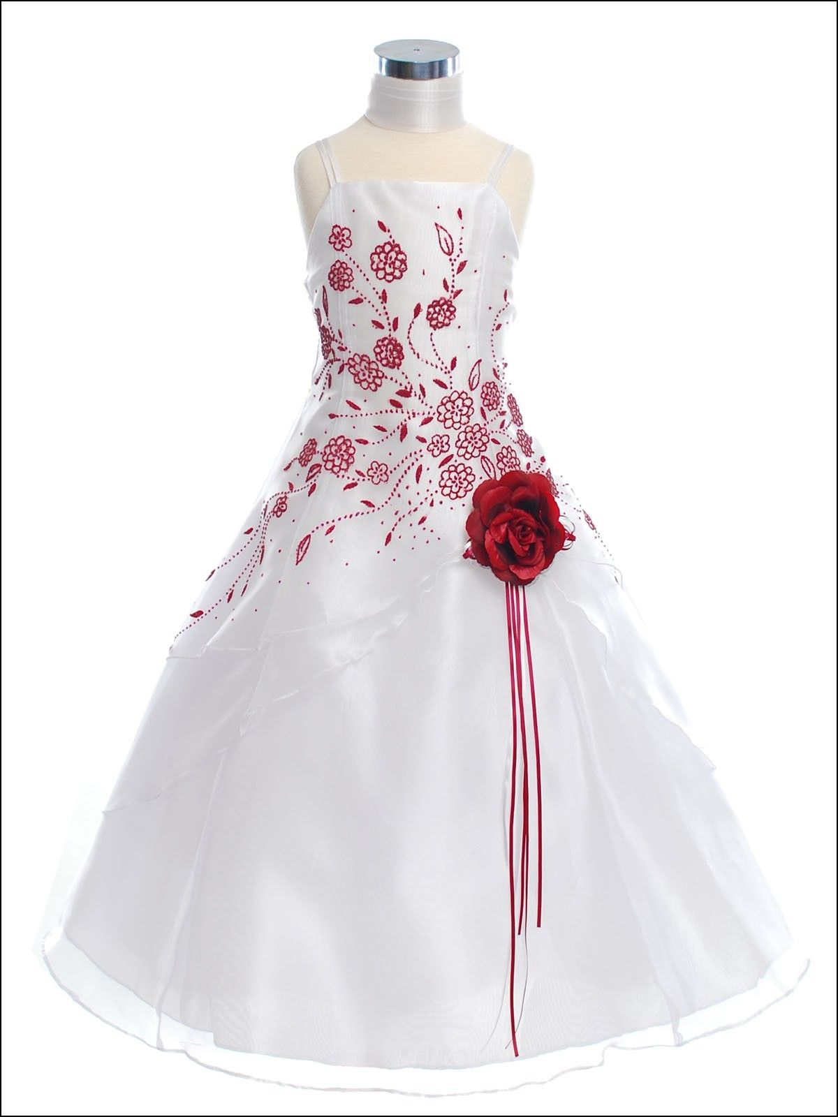 Black White And Red Flower Girl Dresses Dresses And Gowns Ideas