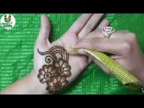 Learn stylish arabic henna mehndi in mi nutes how to apply mehendi like  professional youtube also rh pinterest
