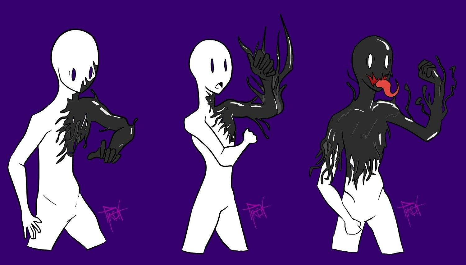 Ych Venom Symbiote Drawing Base Spiderman Art Art Reference Poses