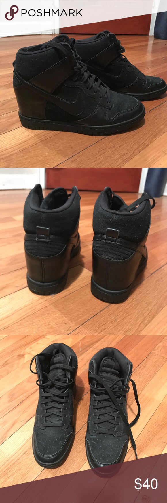Nike Wedge Heel Sneaker Great condition, only worn a couple times Nike Shoes Sneakers