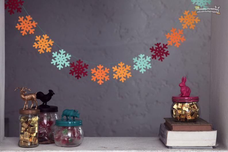 Guirnaldas navideñas de papel Guirnaldas navideñas, Guirnaldas y